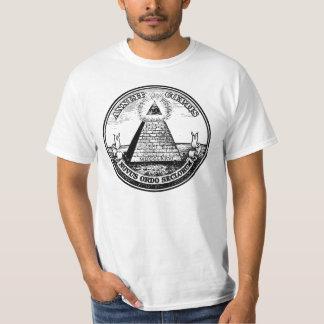 Ordre mondial d'Illuminati de question nouvel T-shirts