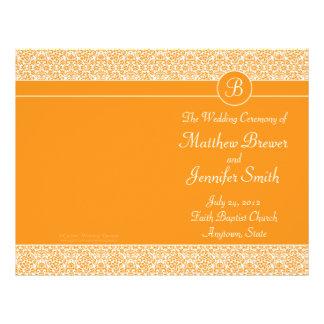 Ordre orange de mariage de programme de service et prospectus