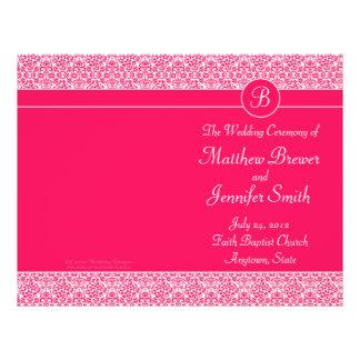 Ordre rose de mariage de programme de service et d prospectus