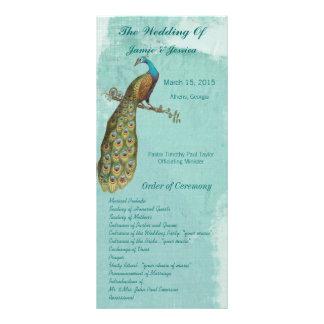 Ordre vintage de programme de mariage d'oiseau