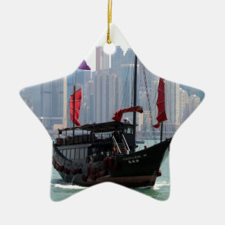 Ordure chinoise, Hong Kong 2 Ornement Étoile En Céramique