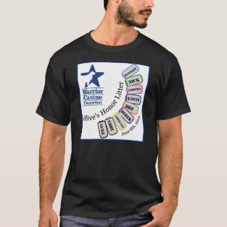 Ordures de l'honneur de l'olive - habillement t-shirt