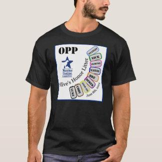 Ordures OPP - habillement foncé de l'honneur de T-shirt