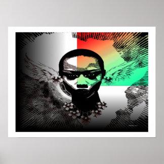 Oreilles à ailes par ange de l'Afrique Posters