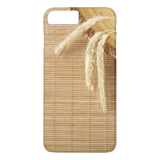 Oreilles de blé de plat en bois coque iPhone 7 plus