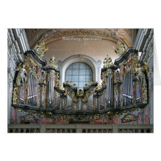 Organe de Bamberg Carte De Vœux