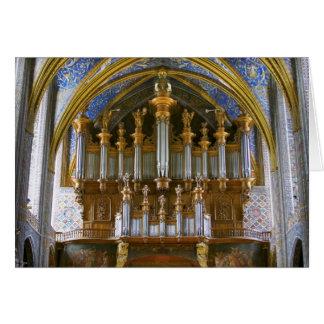 Organe de cathédrale d'Albi, France Carte De Vœux