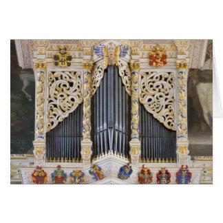organe de tuyau dans Marktkirche, carte de voeux