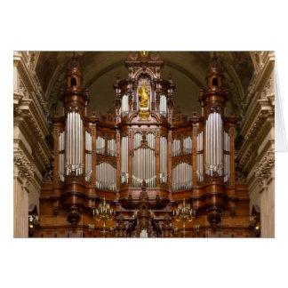 Organe de tuyau de cathédrale, Berlin Cartes
