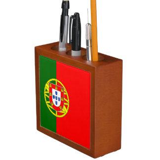Organisateur de bureau de drapeau du Portugal