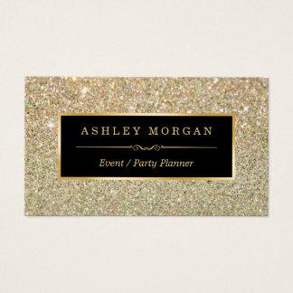 Organisateur de mariage - scintillement cartes de visite