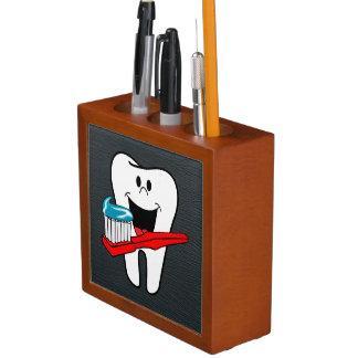 Organiseur De Bureau Dent propre heureuse