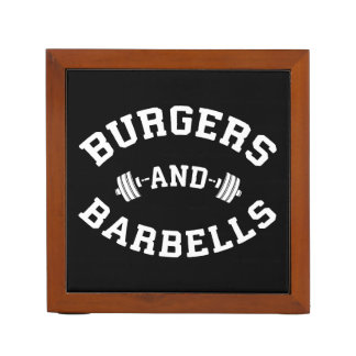 Organiseur De Bureau Hamburgers et haltères - motivation de levage de