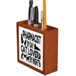 Organiseur De Bureau Le pharmacien aime des chats et la cuisson