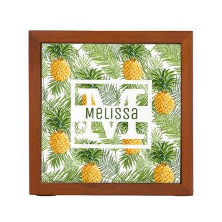 Organiseur De Bureau Les palmettes et les ananas tropicaux   ajoutent