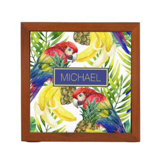 Organiseur De Bureau Les perroquets et le fruit tropical | ajoutent