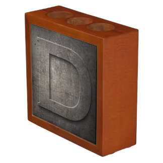 Organiseur De Bureau Organisateur en bronze de bureau du monogramme D
