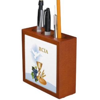 Organiseur De Bureau Personnalisez, sacrement de catholique de RCIA