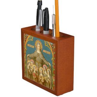 Organiseur De Bureau St Clare de double image d'Assisi et des nonnes