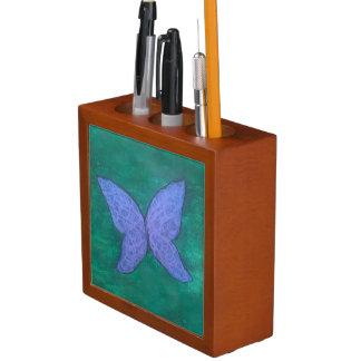 Organiseur De Bureau Vert bleu pourpre passionné de papillon du bureau