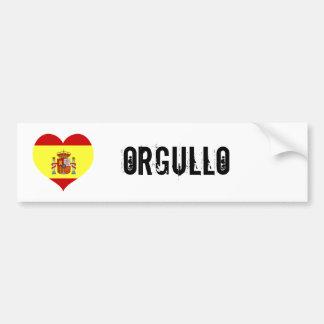 Orgullo de l'Espagne Autocollant De Voiture