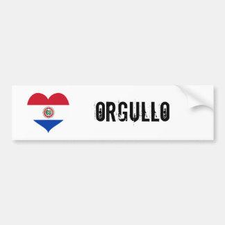 Orgullo du Paraguay (fierté) Autocollant Pour Voiture