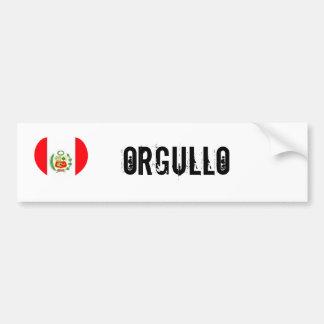 Orgullo du Pérou (fierté) Autocollant De Voiture