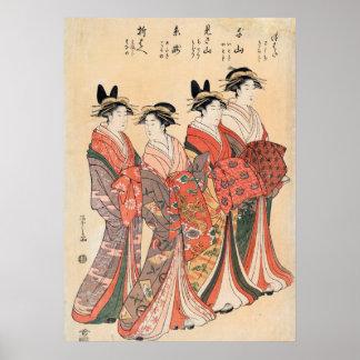 Oribae senzan d'itotaki de misayama de Mitsuhata Posters
