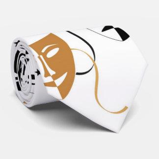 Orienté de théâtre de masque de drame personnalisé cravate