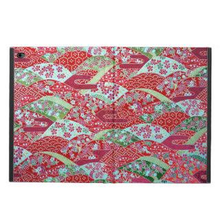 Origami floral rouge Yuzen d'art de Washi de Coque Powis iPad Air 2