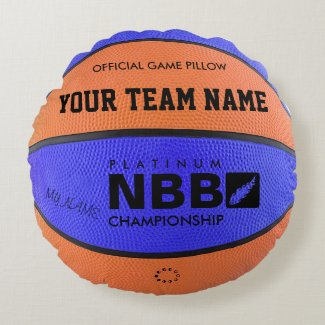 Coussin rond Ballon de Basket