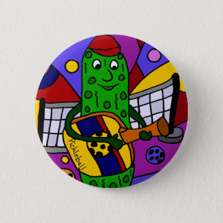Original drôle d'art abstrait de Pickleball Pin's