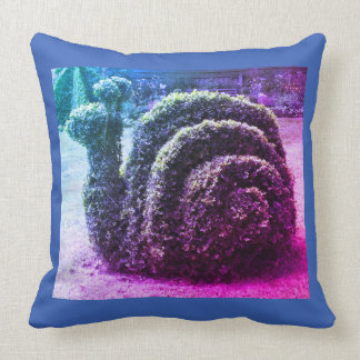Original futé bleu d'escargot topiaire de jardin oreillers