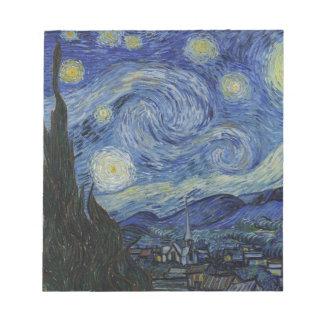 Original la peinture de nuit étoilée blocs notes