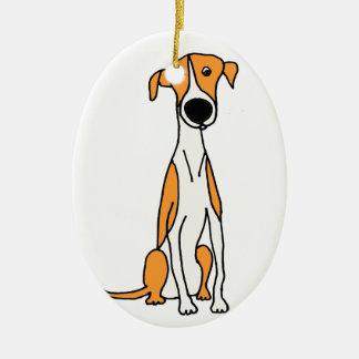 Original mignon de bande dessinée de chien de ornement ovale en céramique