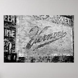 Original vintage d'Ann Arbor Michigan de mur de Poster