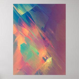 Origine de pensée - copie abstraite de peinture poster