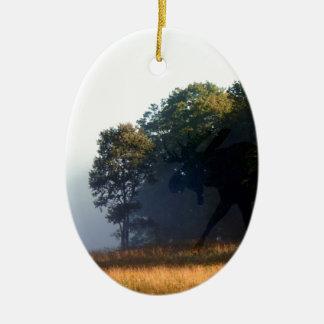 Orignaux d'ombre ornement ovale en céramique