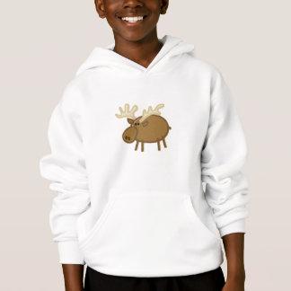 Orignaux/renne drôles sur le blanc