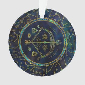 Ormeau d'or de zodiaque de Sagittaire sur la