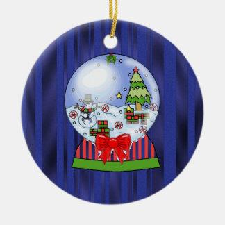 Ornamenr de globe de neige de Noël Ornement Rond En Céramique