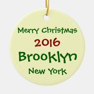 ORNEMENT 2016 DE JOYEUX NOËL DE NEW YORK BROOKLYN