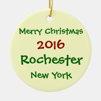 ORNEMENT 2016 DE JOYEUX NOËL DE ROCHESTER NEW YORK