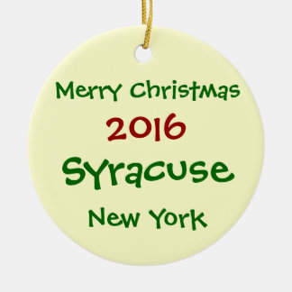 ORNEMENT 2016 DE JOYEUX NOËL DE SYRACUSE NEW YORK