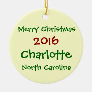 ORNEMENT 2016 DE NOËL DE CHARLOTTE LA CAROLINE DU