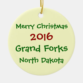 ORNEMENT 2016 DE NOËL DE GRAND FORKS LE DAKOTA DU
