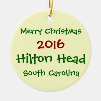ORNEMENT 2016 DE NOËL DE HILTON HEAD LA CAROLINE
