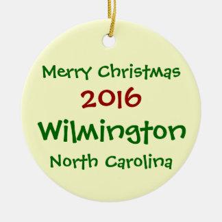 ORNEMENT 2016 DE NOËL DE WILMINGTON LA CAROLINE DU