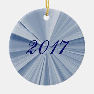 Ornement 2017 bleu de souvenir d'étoile de Noël