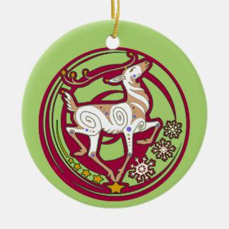 Ornement 2017 de Noël de renne de Holidaze de